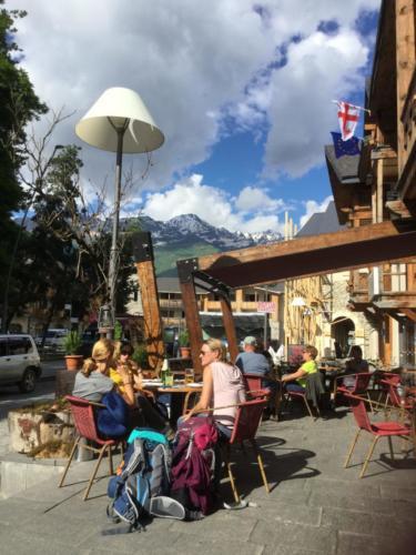 Cafe in Mestia Svanetia Georgien/Georgia