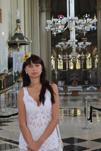 A girl in a church Lviv